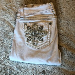 White Miss Me Jeans Signature Skinny
